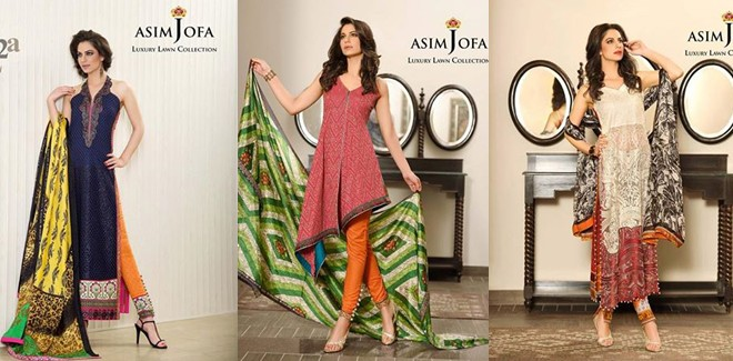 Asim Jofa Luxury Lawn Collection 2017 Summer Dresses