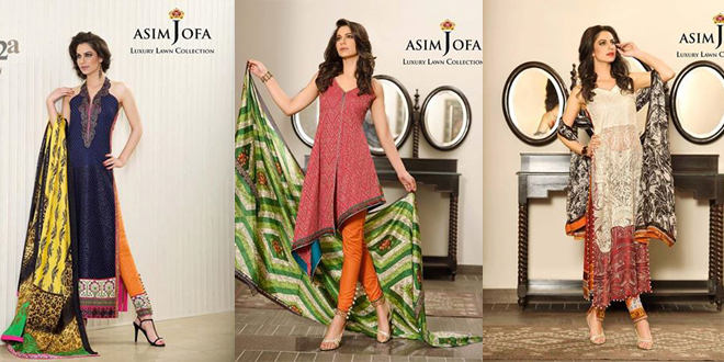 Asim Jofa New Luxury Summer Lawn Collection 2015