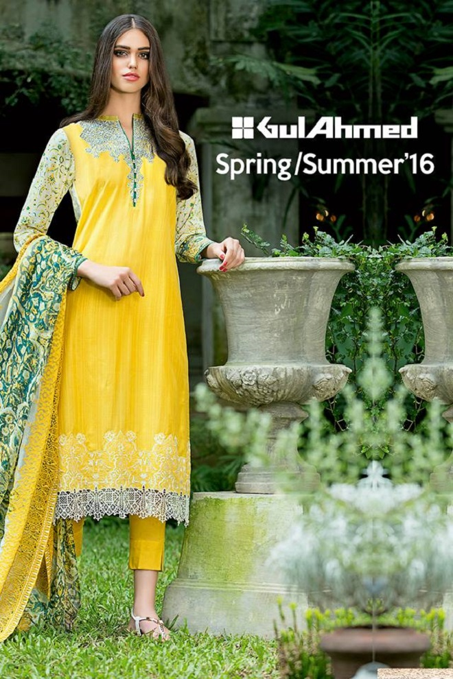 Gul Ahmed latest summer collection fresh yellow