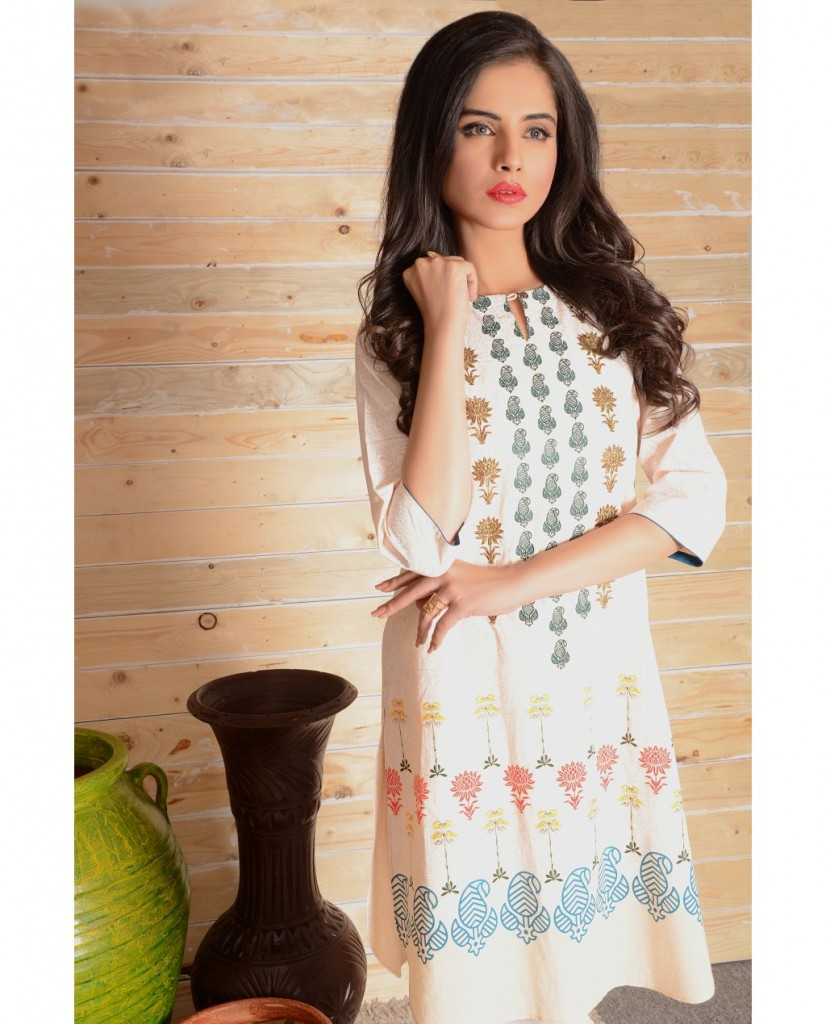 in the garden short kurta by ego summer collection 2017