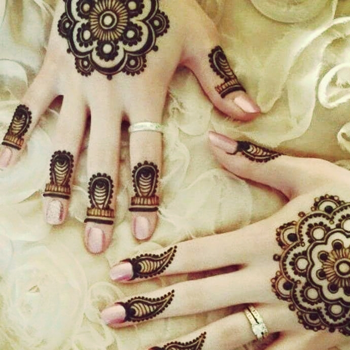 Arabian Style Tikka Mehndi Design for Eid