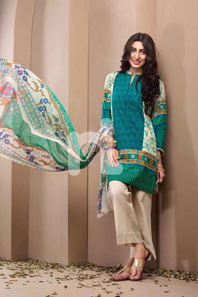 Aquamarine Eid Wear By Nishat Linen 2017