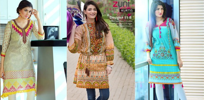 Best Summer Eid Wear Kurti Designs For Girls 2017