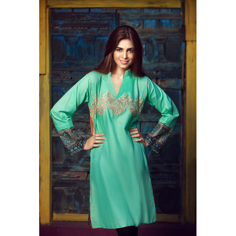 Embroidered Shirt By Resham Ghar For Eid 2016