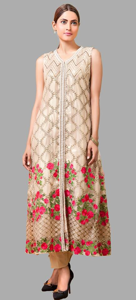 Front Open Frock By Zainab Hasan For Eid 2016