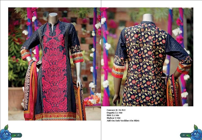 Junaid Jamshed Summer Collection Casuary Print