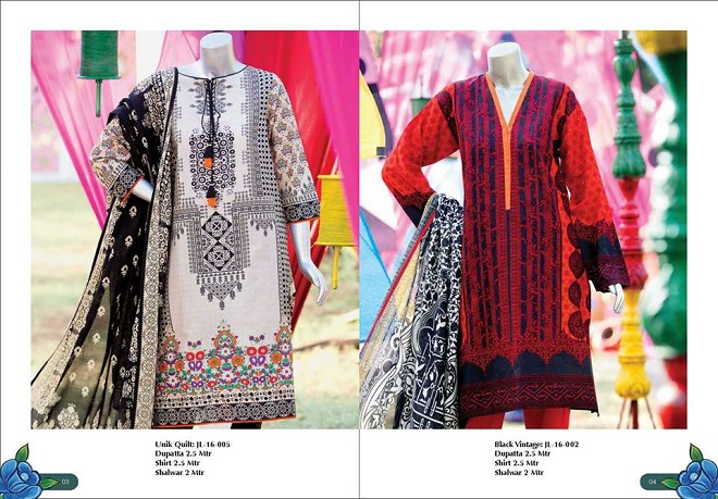 Junaid Jamshed Latest Summer Collection Lawn Prints