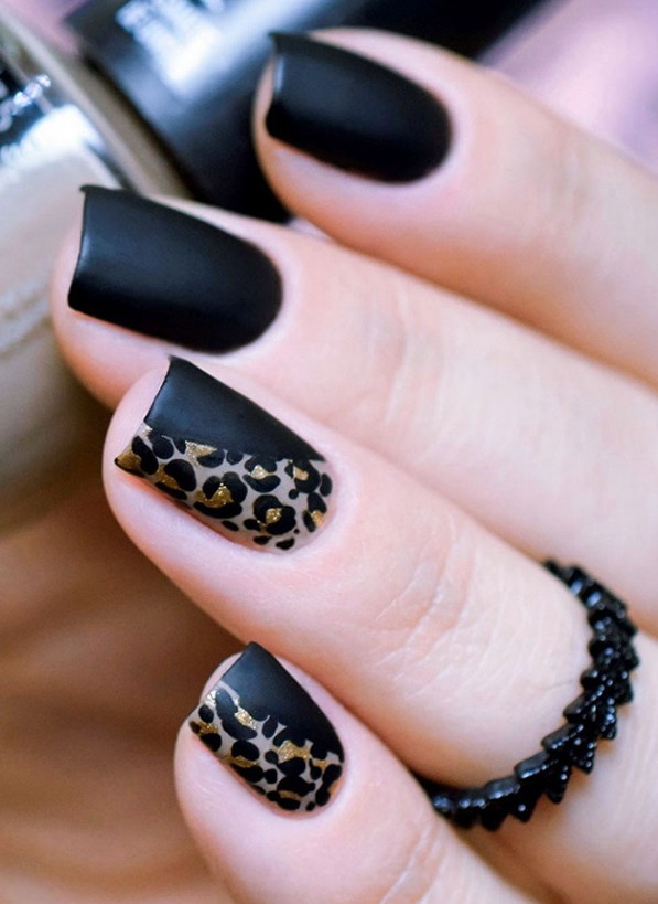 Leopard Nail Art Design For Eid 2017