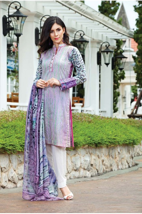 Printed Sleeve Outfit By Resham Ghar For Eid