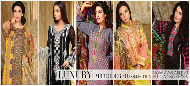 Shaista Cloth Embroidered Eid Lawn Collection 2015