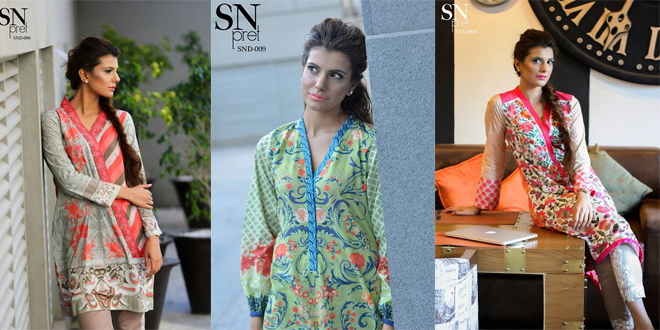Sobia Nazir Pret Wear Summer Dresses Collection 2015