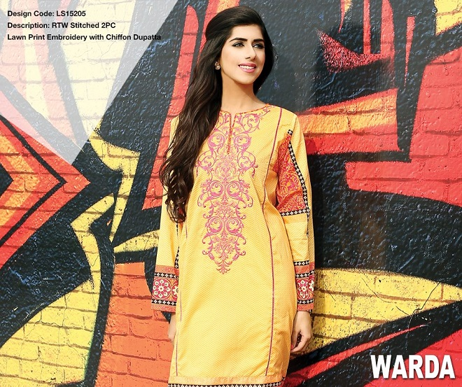 Warda pret summer collection embroidered shirt