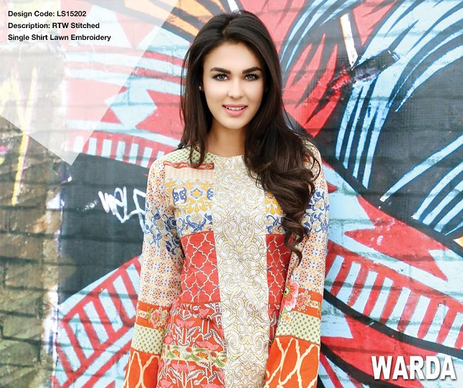 Warda pret summer colorful embroidered shirt