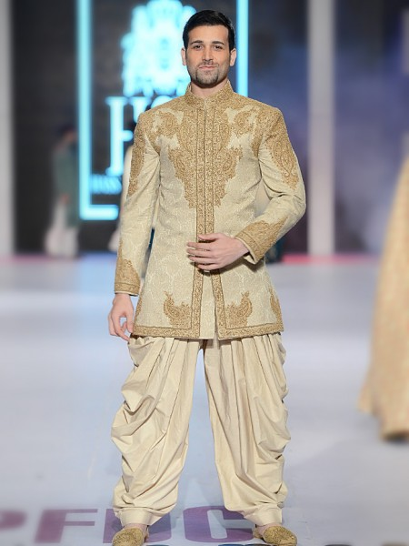 HSY Grey Embroidered  sherwani collection