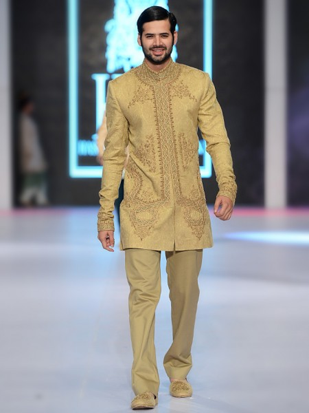 HSY Lemon Shade short embroidered sherwani collection
