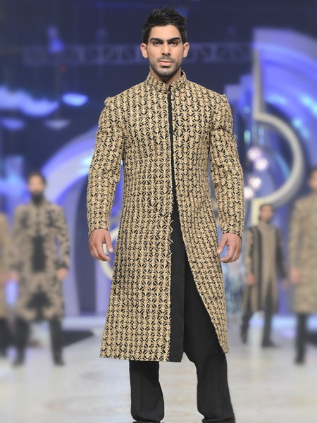 HSY Block print sherwani collection