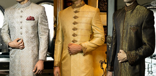 Mens Wedding Wear Sherwani Designs Collection 2017