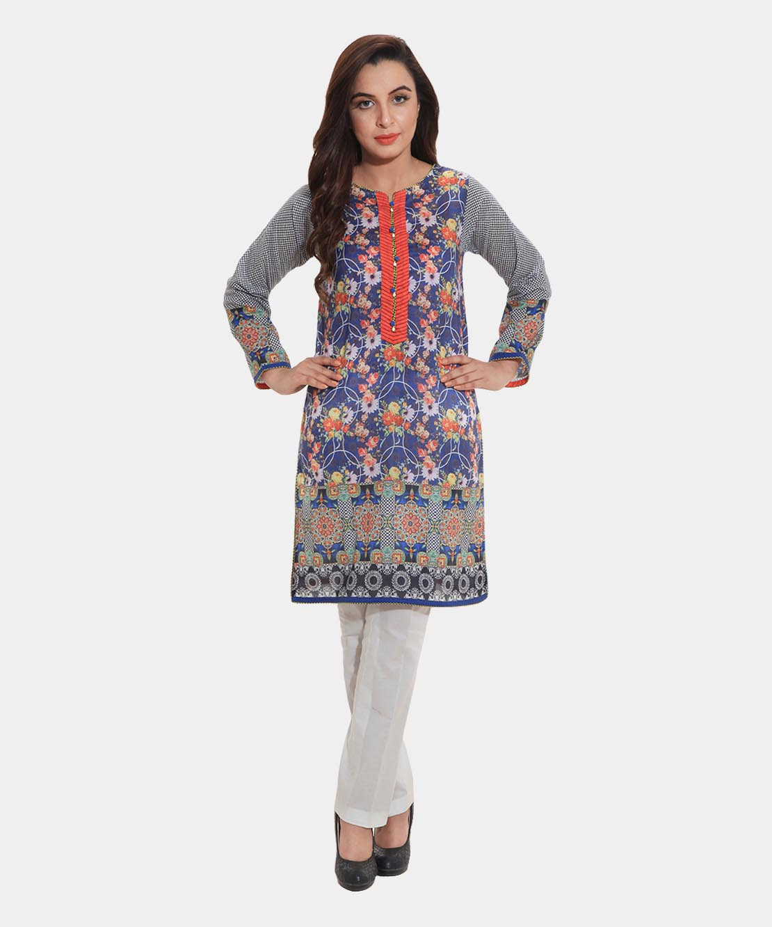Pearly Night Blue Shirt By Bareeze For Eid 2016
