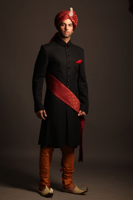 deepak perwani black sherwani collection