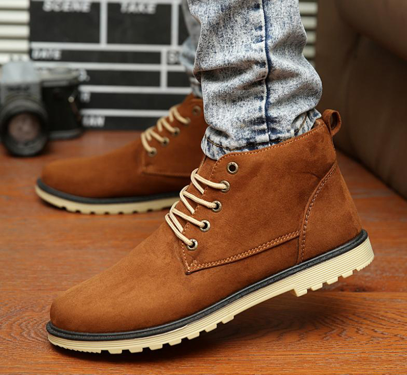 Casual dark brown Lace Up Shoes for Men