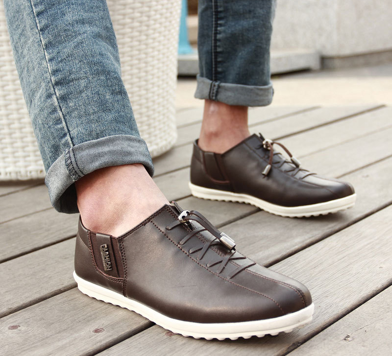 Casual Coffee Lace Up Shoes for Men