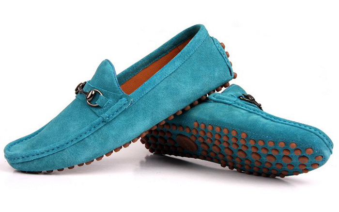 Casual Sky blue Loafers for Men