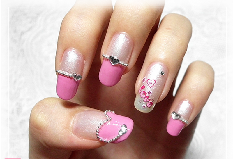 Multi Design Rhinestone Nail Art Designs 01
