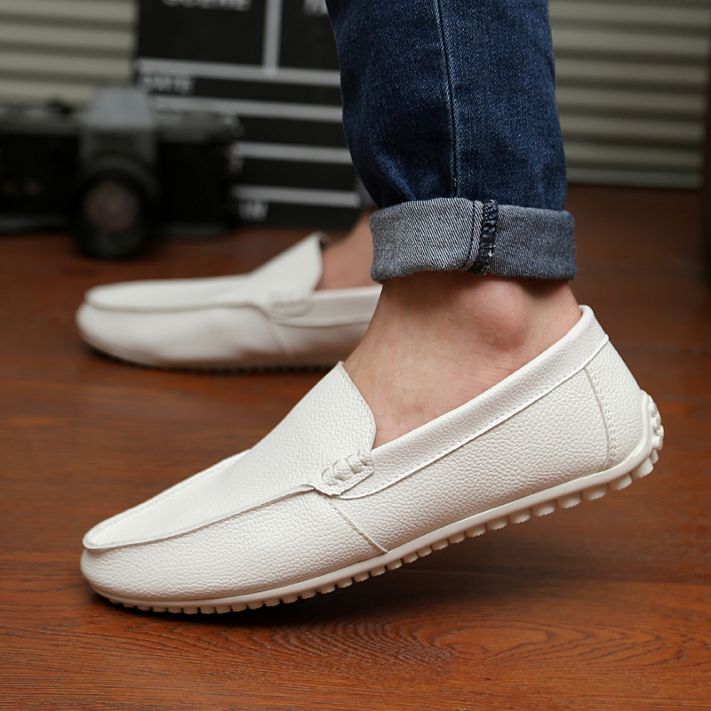 White Slip Ons Casual Shoes for Men