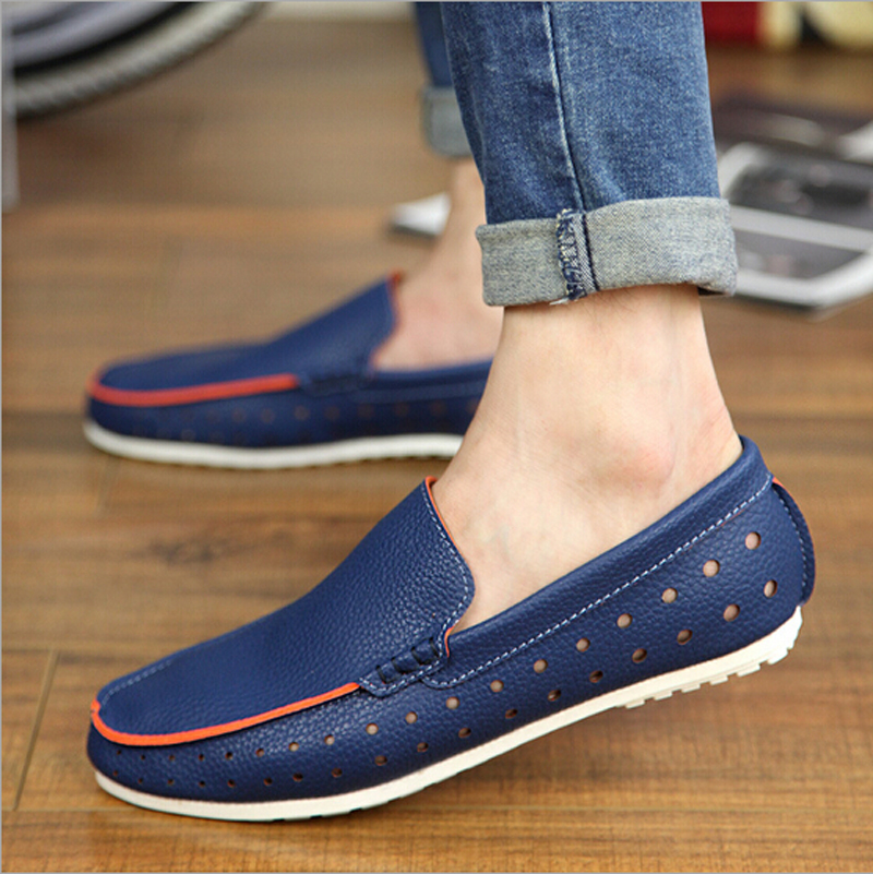 Navy Blue Slip Ons Casual Shoes for Men 05