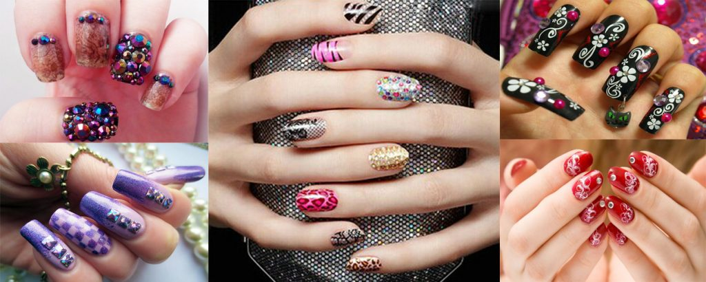 Top 10 Best & Most Attractive Rhinestone Nail Art Designs