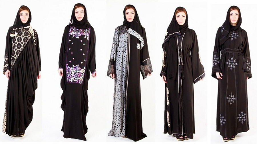 Black Designer abayas with hijab