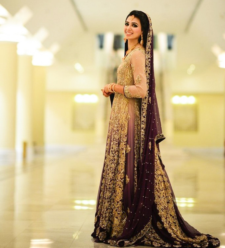 Purplish Lehnga With Tea Pink Shirt Barat Dresses