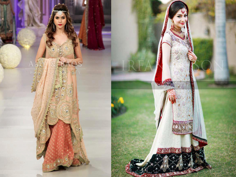 long shirt with lehenga walima dresses