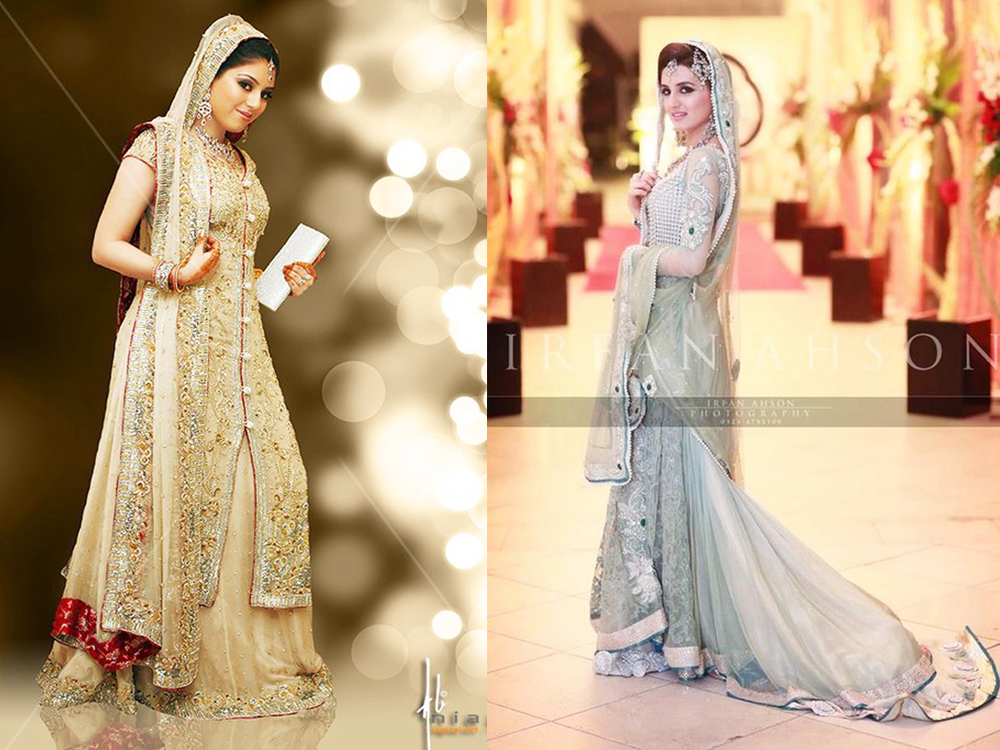 light shaded wedding bridal walima dresses