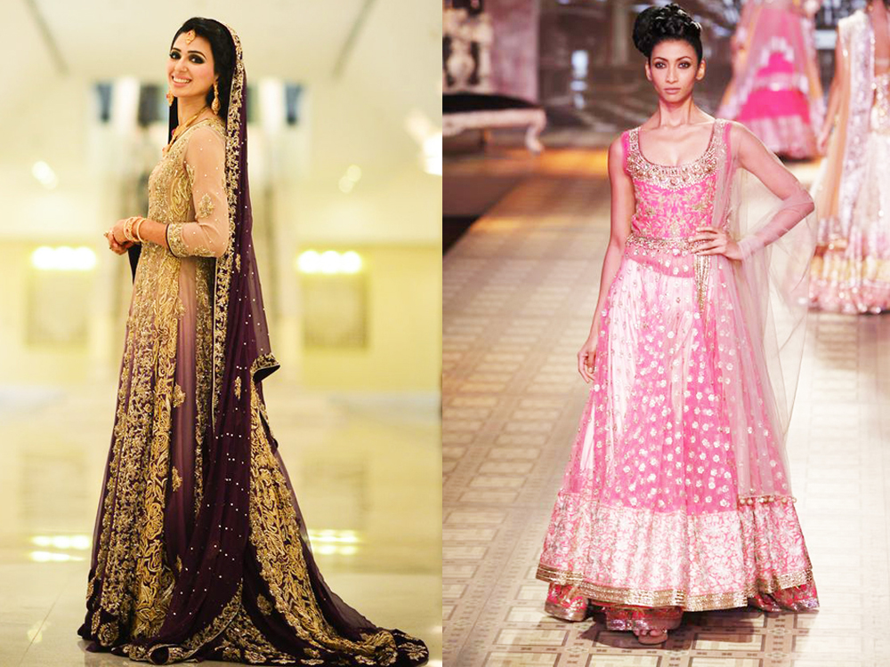 long anarkali frock style walima dress