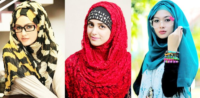 Latest Fashion Hijab Styles and Designs for Different Face Shape Girls