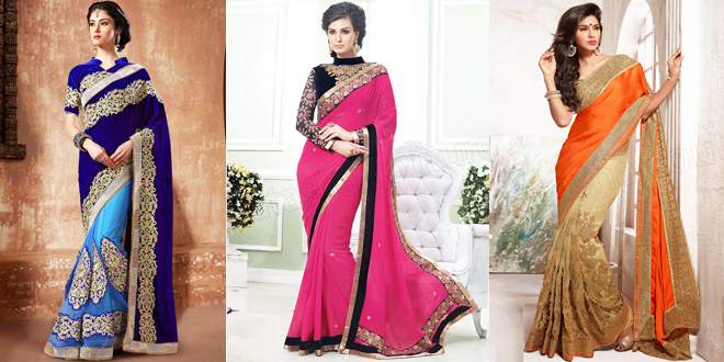Pakistani and Indian Designer Party Wear Saree Collection