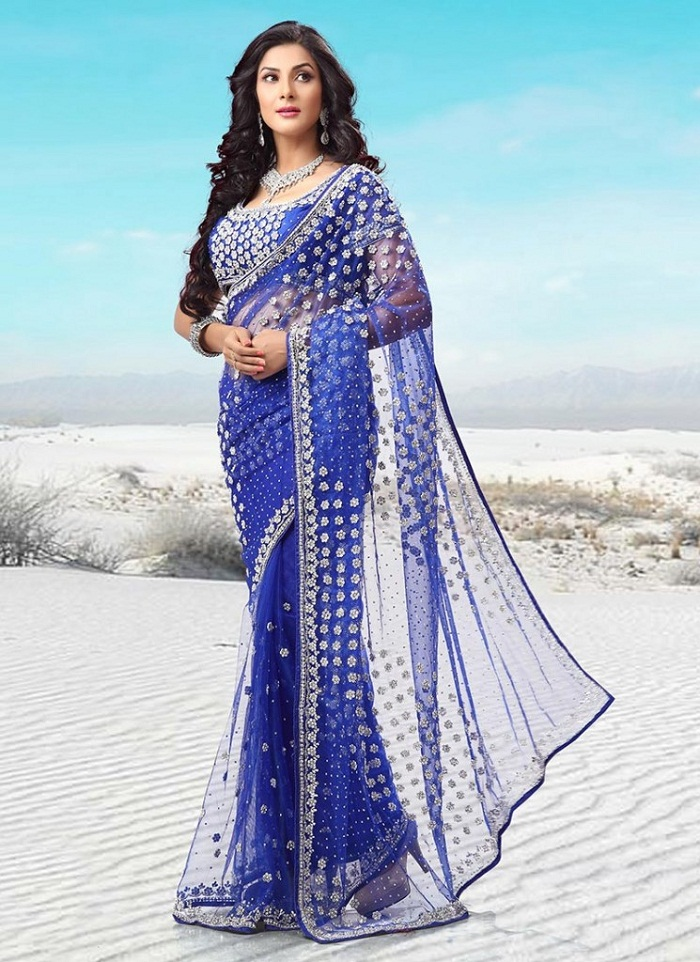 Pakistani And Indian Party Wear Sarees 2016 2017
