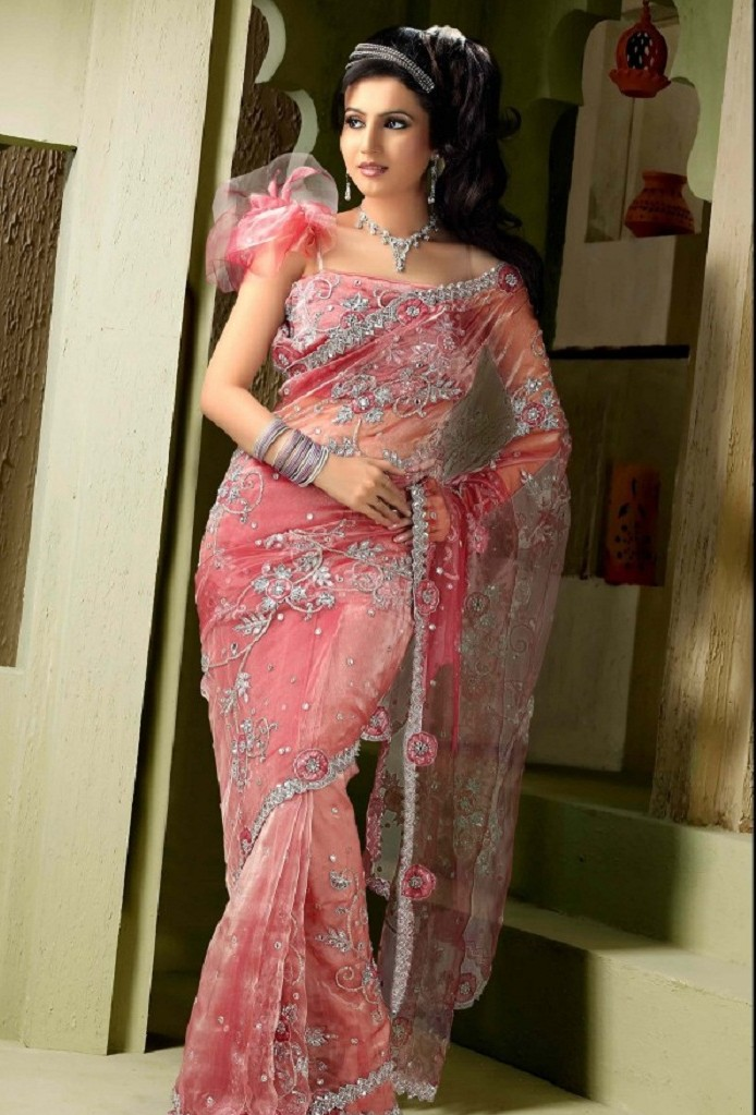 Pakistani and indian party wear sarees 2016 2017 beststylo com