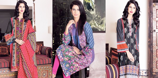 Kayseria Beautiful Winter Prints and Hues 2017 Latest Collection
