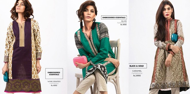 Sana Safinaz Chic Ready to Wear Winter Dresses 2017 with Prices