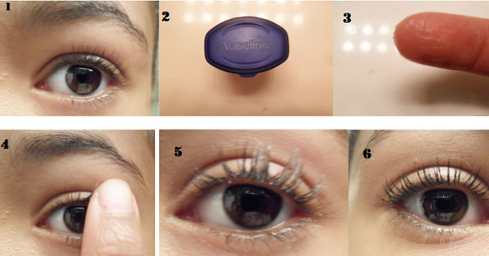 vaseline for eyelashes growth