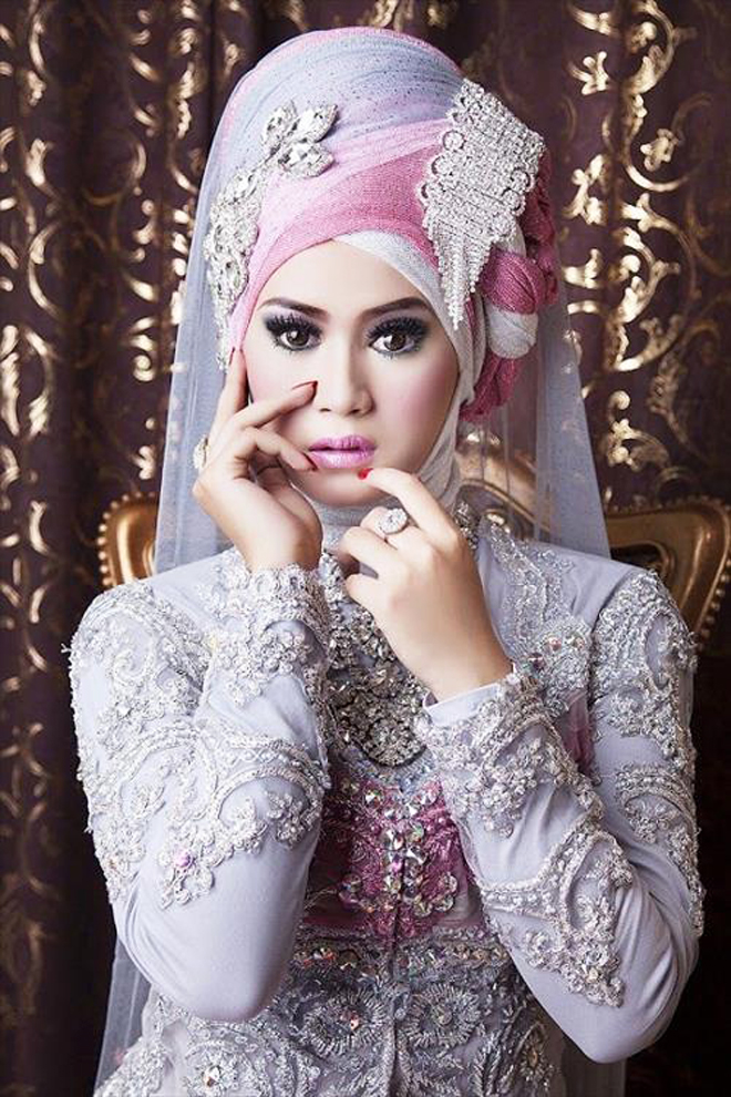 latest Hijab Style for wedding brides