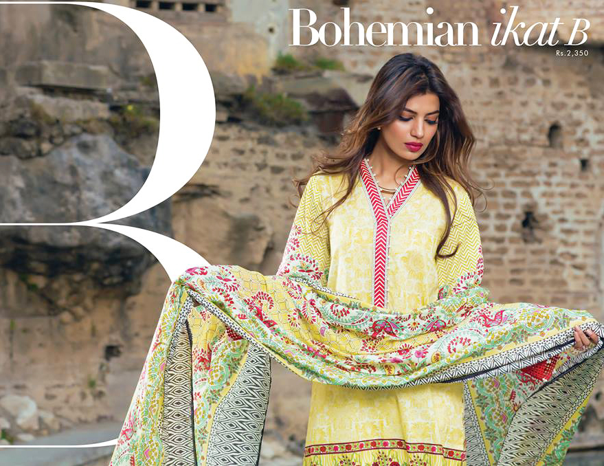 Sapphire Lawn Collection Bohemian ikat