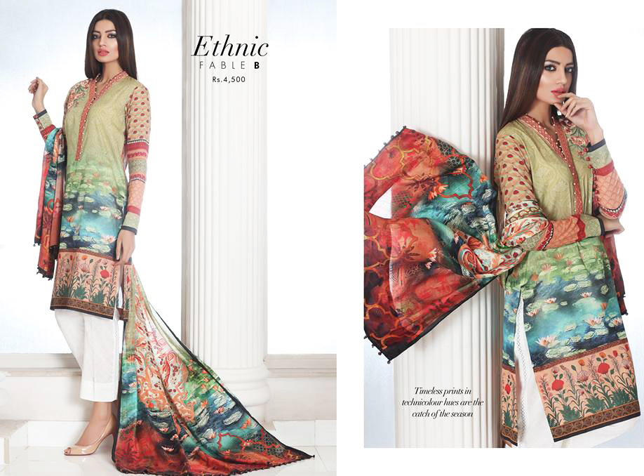 Sapphire Lawn Collection Ethnic Fable