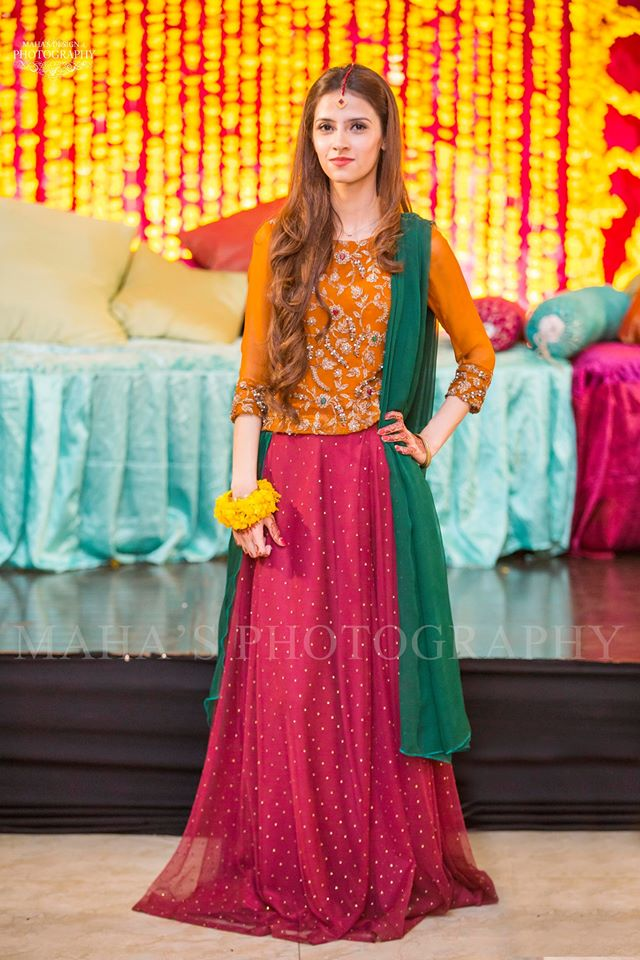 Lehenga Style Dress for Desi Pakistani Weddings