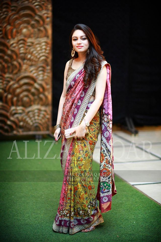 Party Wear Multi Colored Floral Saree For Women