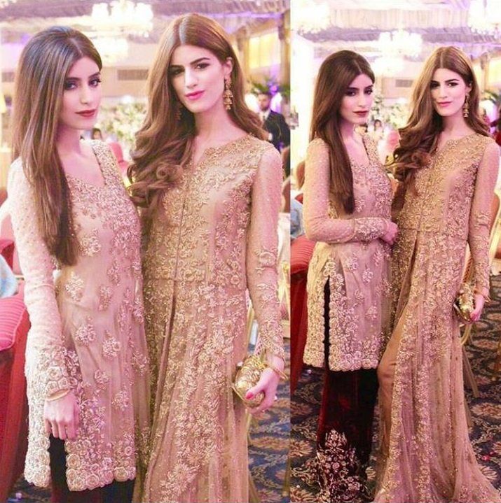 Gold Embroidered Dresses for Pakistani Weddings