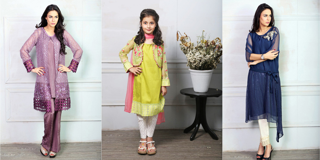 Maria B New Fancy Eid Collection 2016 for Women and Kids