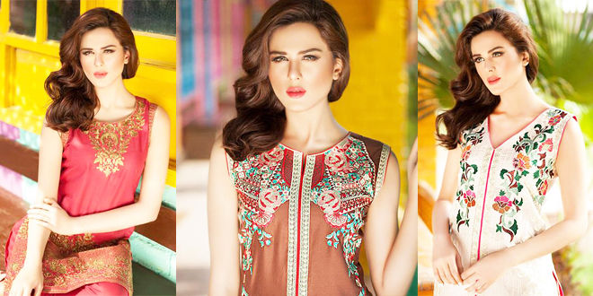 Shaista Cloth Embroidered Eid Lawn Collection 2016